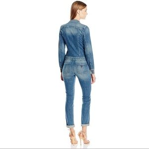 d7acd332f41f Guess Pants - Denim Zip Front Jumpsuit